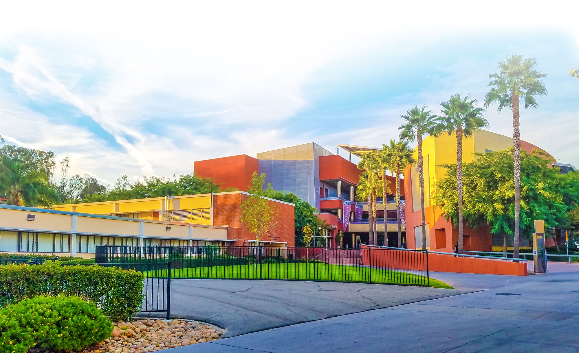 Colorful depiction of Cal State LA's campus